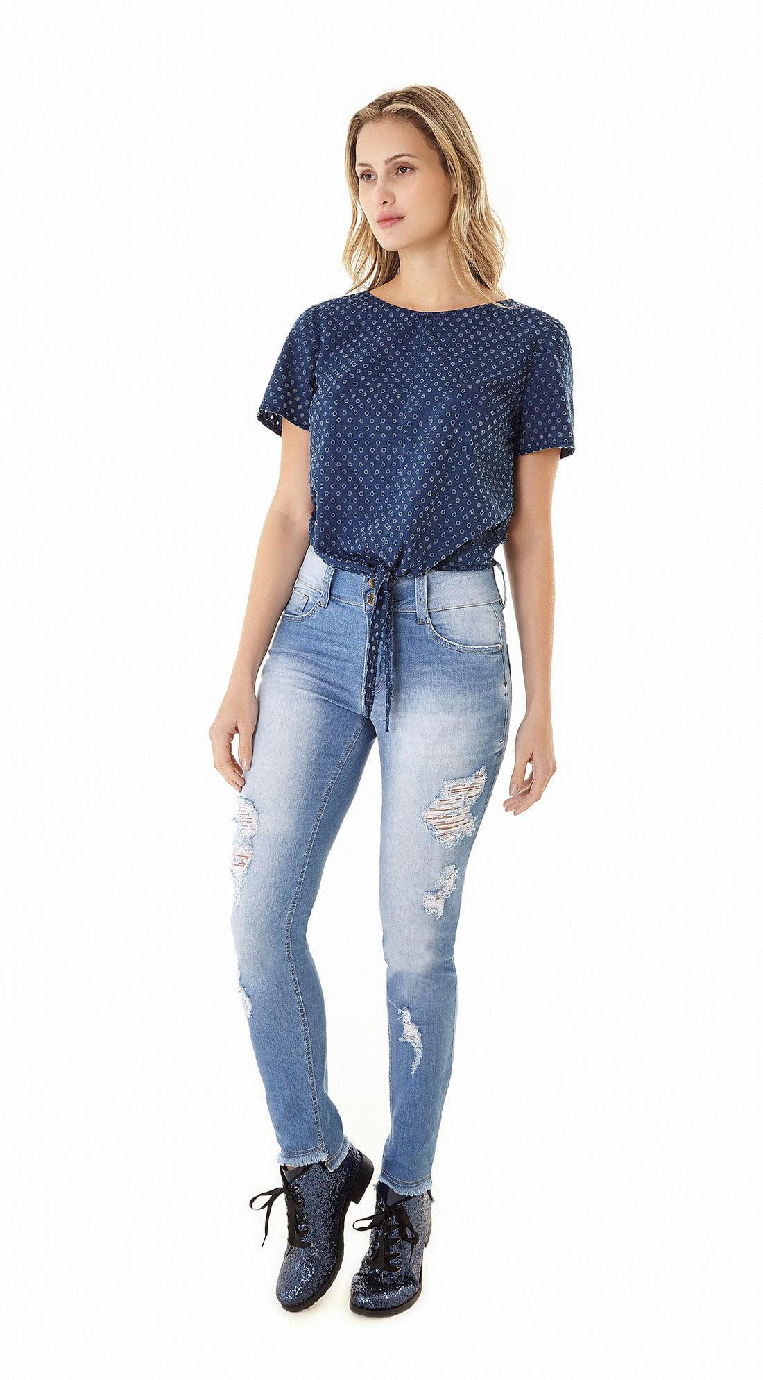 9fc88f56c Calca Jeans Skinny Regular Barra Irregular Jeans - Zinco